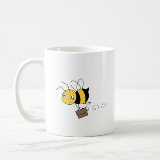 Beezness Bee - Stressed Bee Holding Briefcase Coffee Mug