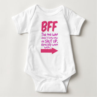 BEF the one who doesn't know how to shut up Baby Bodysuit