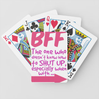 BEF the one who doesn't know how to shut up Bicycle Playing Cards