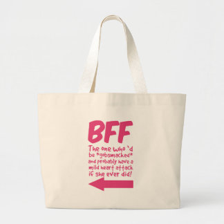BEF the one who'd be gobsmacked Large Tote Bag