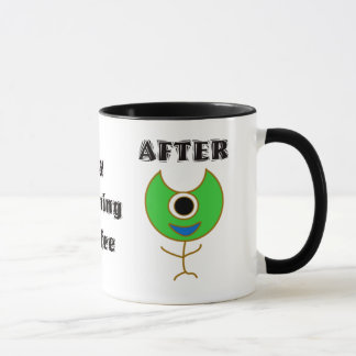 Before And After My Morning Coffee Mug