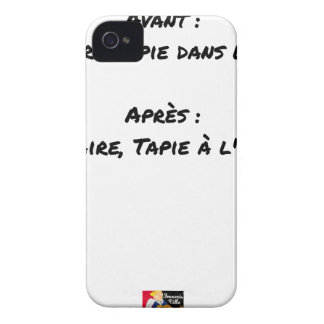 BEFORE: BUSINESS TAPIE IN THE SHADE, AFTERWARDS: iPhone 4 CASE