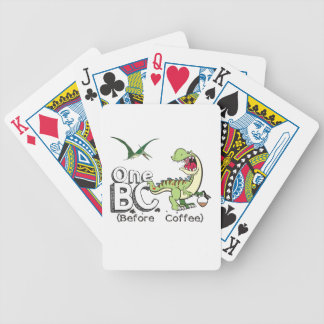 Before Coffee Bicycle Playing Cards