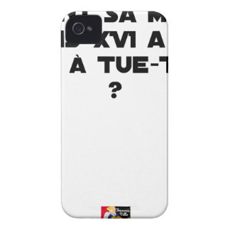 BEFORE DID DIED SA, LOUIS XVI SHOUT WITH TUE-TÊTE? iPhone 4 Case-Mate CASE