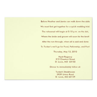 """Before Heather and Jamie can walk down the aisl... 5"""" X 7"""" Invitation Card"""