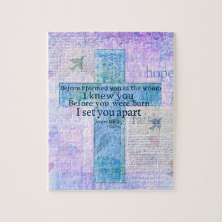 Before I formed you in the womb Jeremiah 1:5 Bible Jigsaw Puzzle