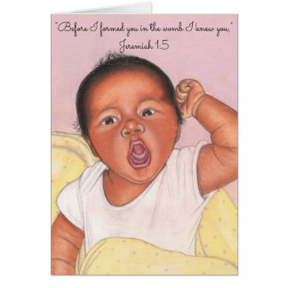 Before I formed you in womb~Scripture~Newborn Card