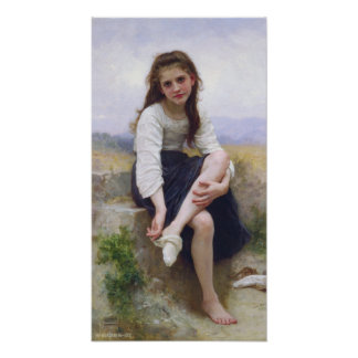 Before The Bath by William Bougereau Poster