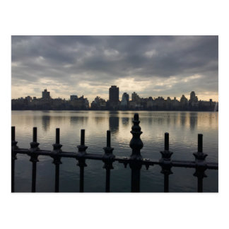 Before the Storm, Central Park Reservoir, NYC Postcard