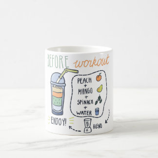 Before workout, healthy shake recipe coffee mug