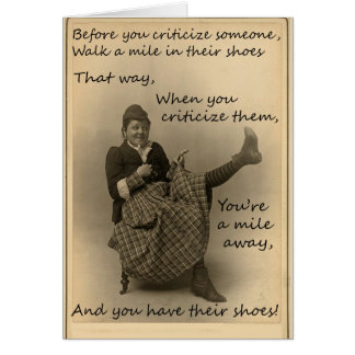 Before You Criticize, Greeting Card, Vintage Image Card