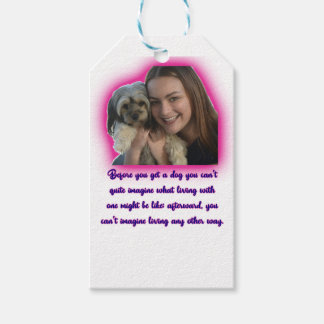 Before you get a dog gift tags