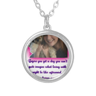 Before you get a dog silver plated necklace