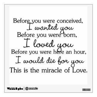 Before You Were Conceived Wall art Wall Decal