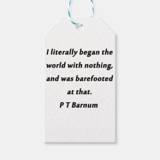 Began The World - P T Barnum Gift Tags