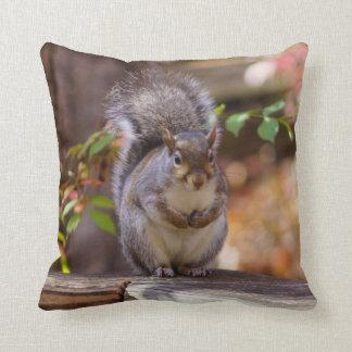 Begging Squirrel Throw Pillow