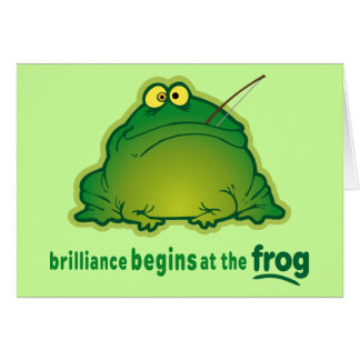 Begin At The Frog Funny Orchestra Joke Card