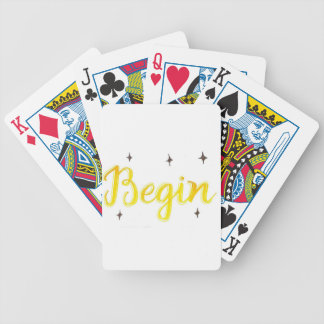 begin bicycle playing cards