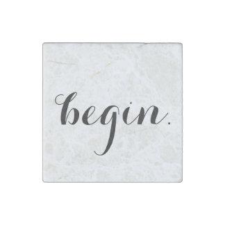 """begin."" magnet stone magnets"