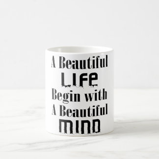 BEGIN WITH BEAUTIFUL MIND MUG