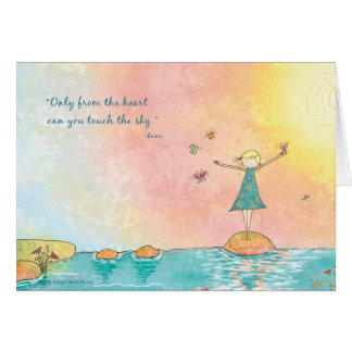 """Begin Within """"From the Heart"""" - Rumi Greeting Card"""