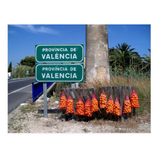 Beginning of Valencia Region. Postcard