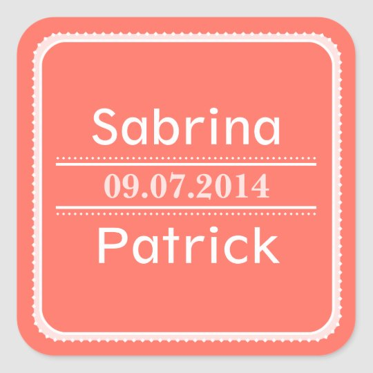 Beginnings Soft Square Sticker - Coral