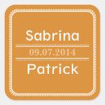 Beginnings Soft Tangerine Square Sticker