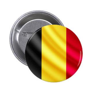 Begium waving flag pinback button