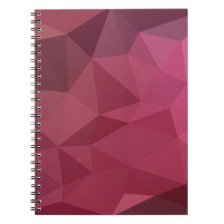 Begonia Pink Abstract Low Polygon Background Notebooks