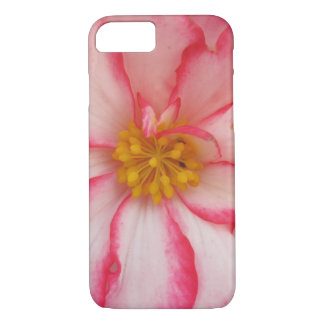 Begonia Red White Flower Bloom iPhone 7 Case