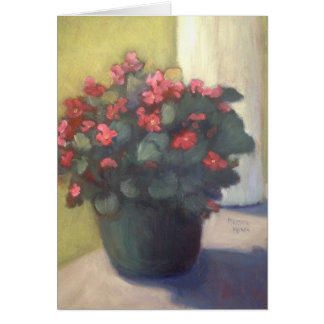Begonias on the Porch Card
