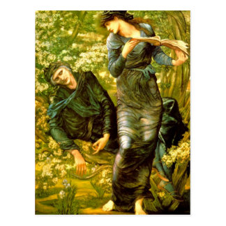 Beguiling of Merlin ~ Burne-Jones 1874 Painting Postcard