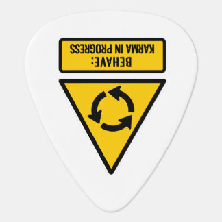 Behave: Karma in Progress Guitar Pick