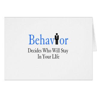 Behavior Card