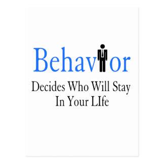 Behavior Postcard