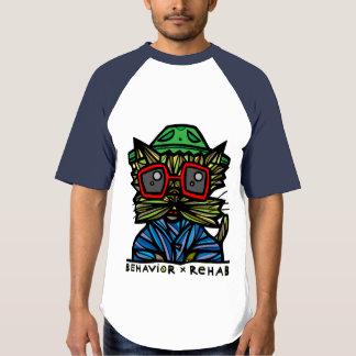 """""""Behavior Rehab"""" BuddaKats Men's Raglan T-Shirt"""