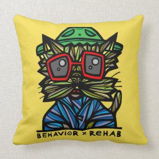 """Behavior Rehab"" BuddaKats Throw Pillow 20"" x 20"""