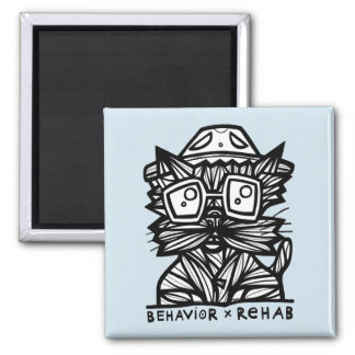 """Behavior Rehab"" Square Magnet"
