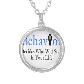 Behavior Silver Plated Necklace
