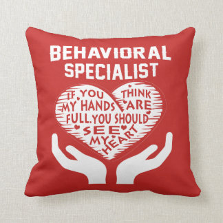 Behavioral Specialist Throw Pillow