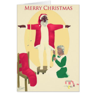 Behind Every Great Man.... Christmas Card