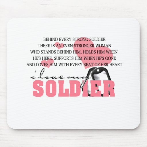 Behind every Soldier Mouse Pad
