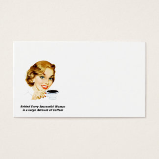 Behind Every Successful Woman Business Card