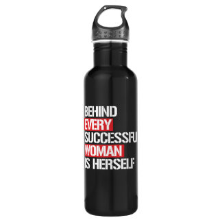 Behind Every Successful Woman is Herself --  white 710 Ml Water Bottle