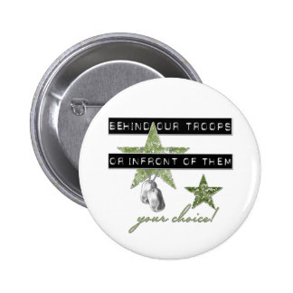 Behind Our Troops Or In front Of Them Button