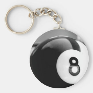 Behind the 8-Ball, Eight Ball Basic Round Button Keychain