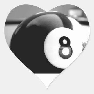 Behind the 8-Ball, Eight Ball Heart Sticker