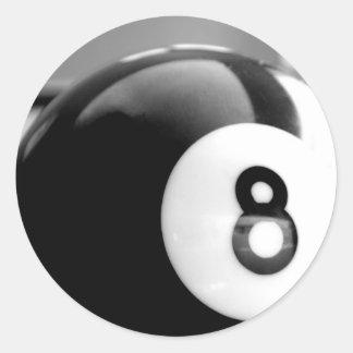 Behind the 8-Ball, Eight Ball Round Sticker