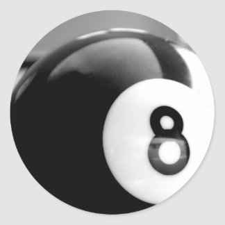 Behind the 8-Ball, Eight Ball Round Stickers